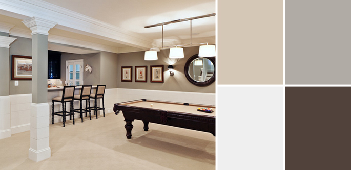 Basement Colors. Wall Paint Color: ...