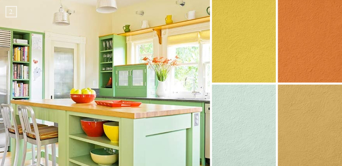 A palette guide for kitchen color schemes decor and paint - Bright kitchen paint ideas ...