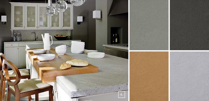 A palette guide for kitchen color schemes decor and paint for Kitchen wall paint design