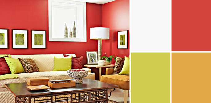 ... Matching Colors With Red  Wall Paint Basement