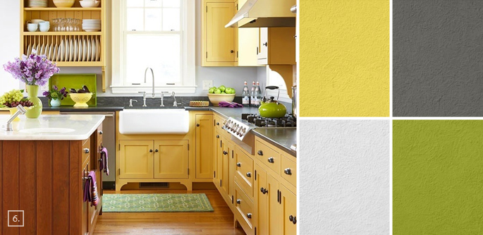 Colorful Yellow Kitchen