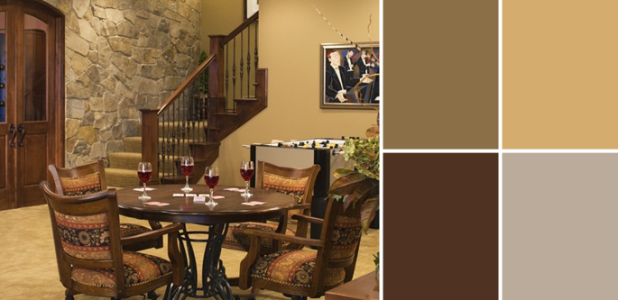 Rustic Basement Color Scheme