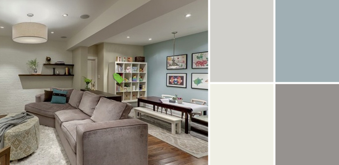 Basement Wall Color A Palette Guide To Basement Paint Colors  Home Tree Atlas