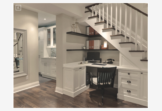 ideas for turning a basement space into a home office | home tree