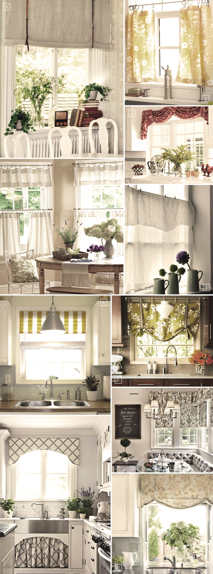 Kitchen Curtain Ideas Mood Board