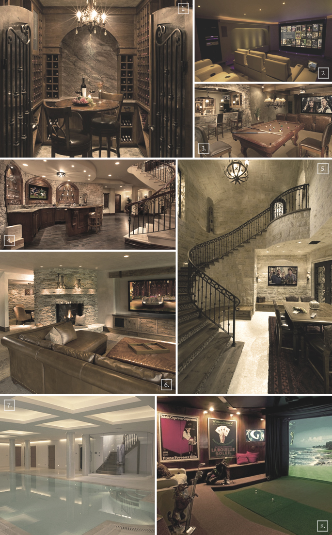 Luxury Basement Designs