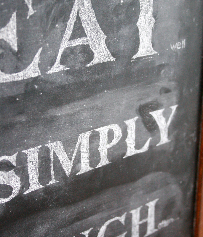 Kitchen Chalkboard DIY Font
