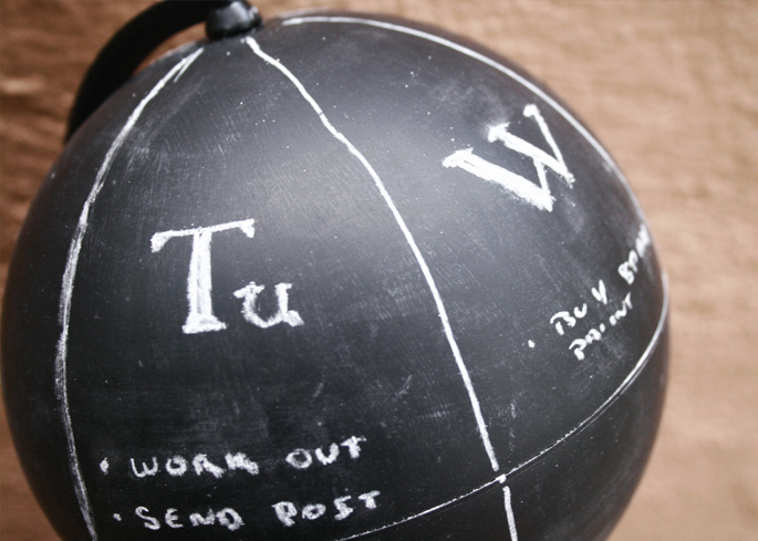 DIY Globe Chalk Paint