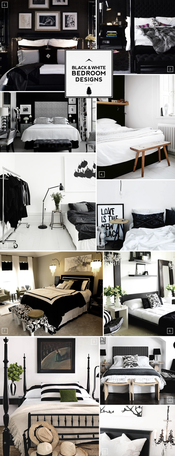 Black And White Bedroom Designs And Decor Ideas Home