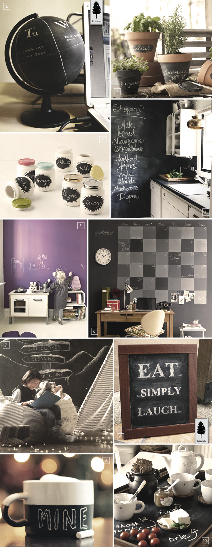Diy chalkboard paint decor ideas for the home home tree atlas - Diy home interior painting tips ...