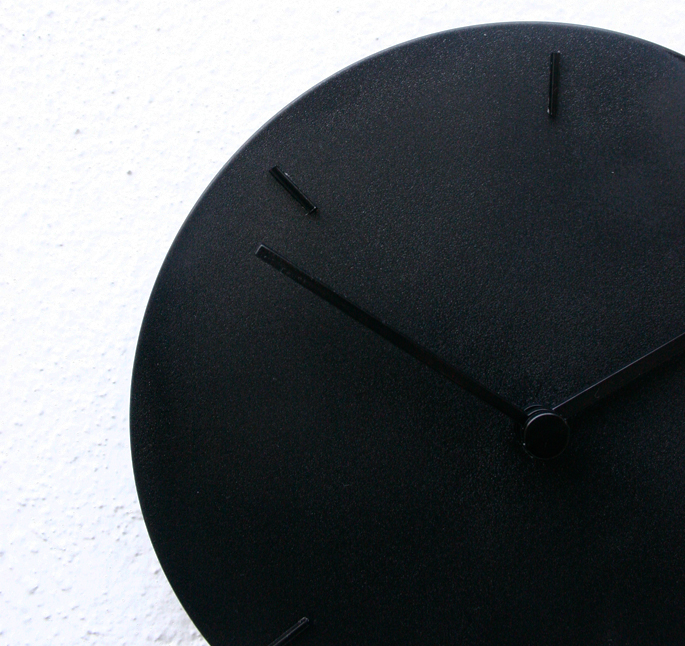 Black Wall Clock DIY