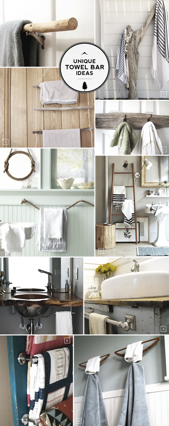 Unique Ideas for Bathroom Towel Bars and Racks | Home Tree Atlas