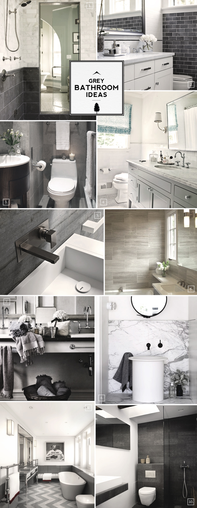 Grey Bathroom Ideas and Design Styles | Home Tree Atlas