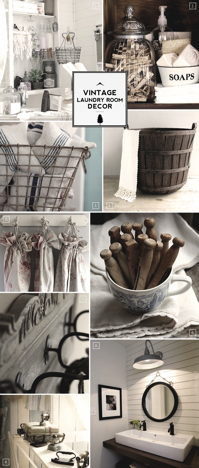 Style guide vintage laundry room decor ideas home tree for Room decor ideas vintage