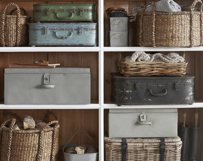 Vintage Storage Ideas: Wicker Baskets