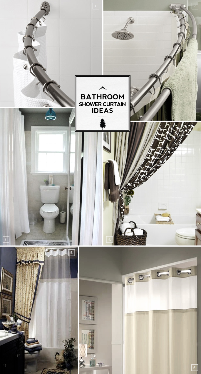 Bathroom Shower Curtain Ideas From Space Saving To Decorative Extras