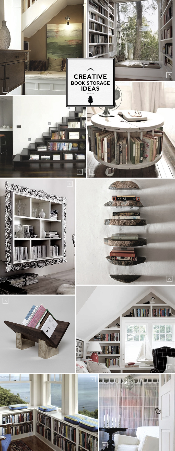Creative Book Storage Ideas From Nooks to Staircases & Creative Book Storage Ideas: From Nooks to Staircases | Home Tree Atlas