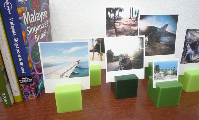 DIY Candle Photo Stands