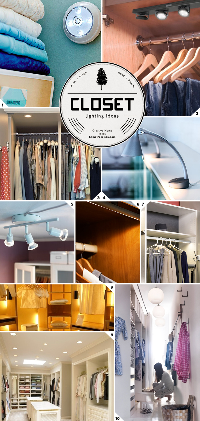 Closet Lighting Ideas From Wireless to Walk In & Closet Lighting Ideas: From Wireless to Walk In | Home Tree Atlas