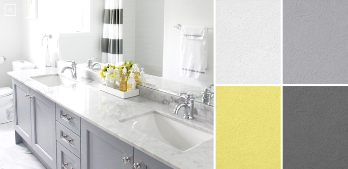 Bathroom color ideas palette and paint schemes home for Bathroom color scheme ideas