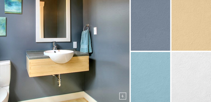 Bathroom color ideas palette and paint schemes home Bathroom color palettes