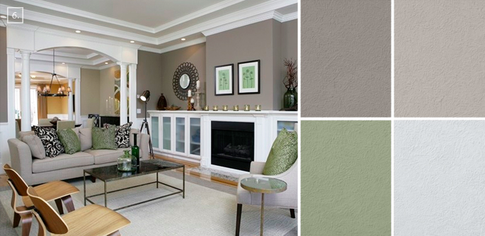 Ideas for Living Room Colors: Paint Palettes and Color Schemes ...