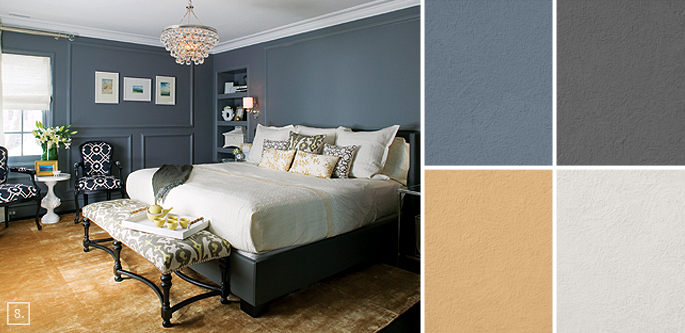 Bedroom Paint Colors And Moods bedroom color ideas: paint schemes and palette mood board | home