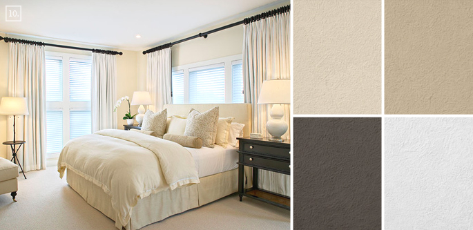 Bedroom Paint Colors Benjamin Moore bedroom color ideas: paint schemes and palette mood board | home
