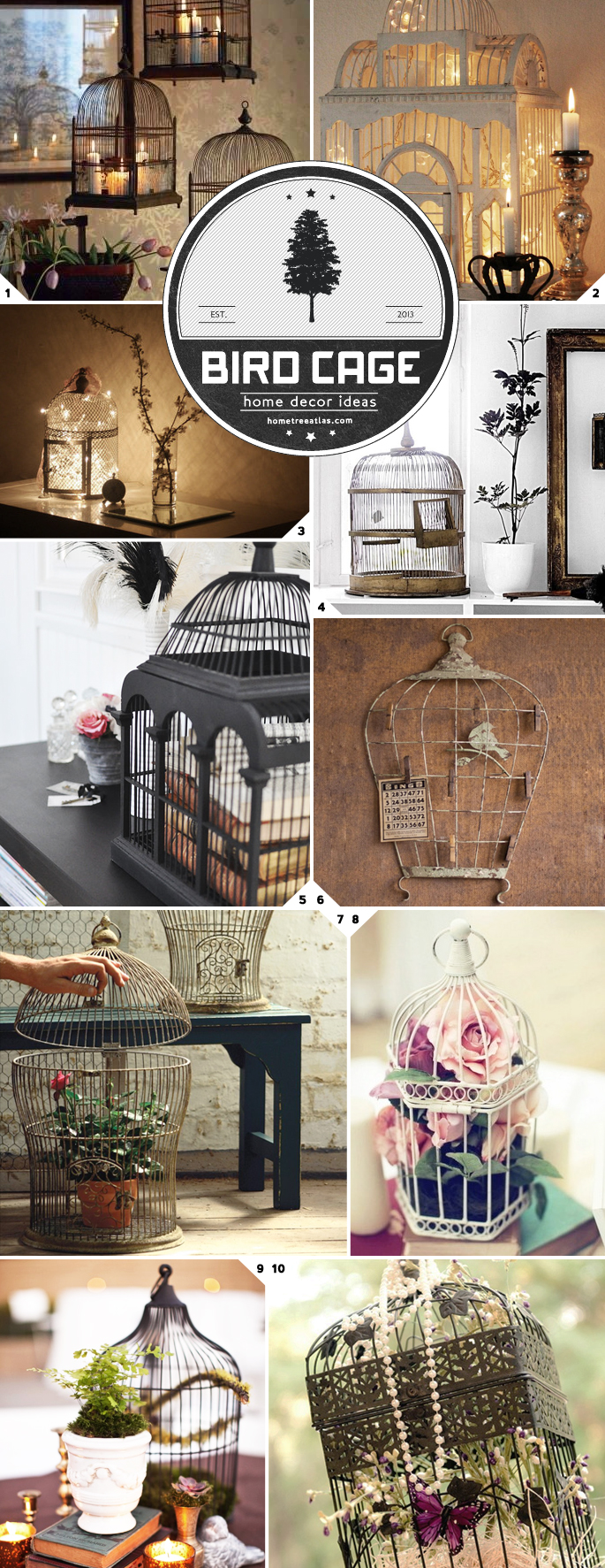 Home decor ideas using bird cages home tree atlas for Bird home decor