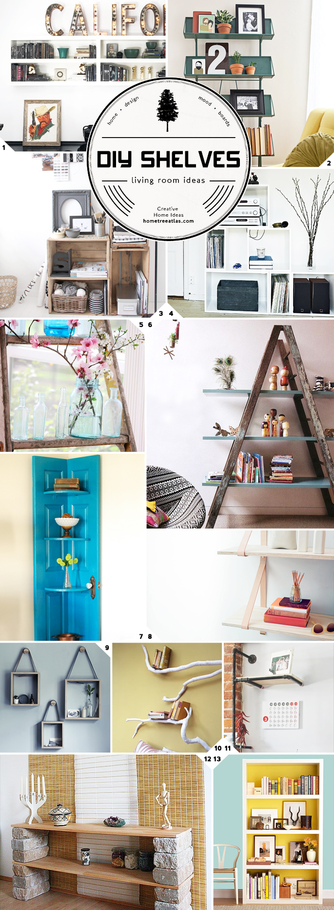 Creative DIY Ideas for Living Room Shelves | Home Tree Atlas