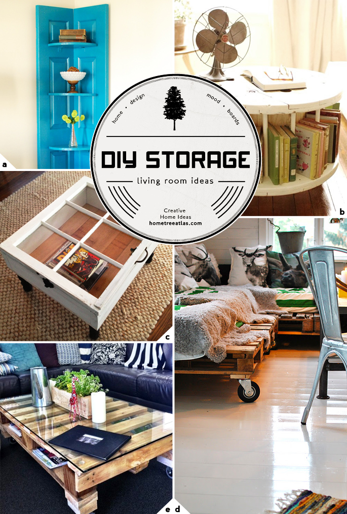 Creative living room storage ideas home tree atlas Diy home design ideas living room software