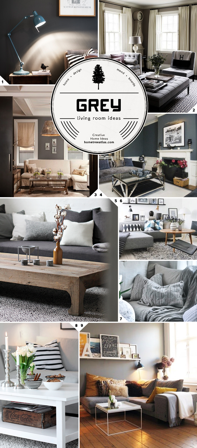 Color Choices: Grey Living Room Ideas and Designs | Home Tree Atlas