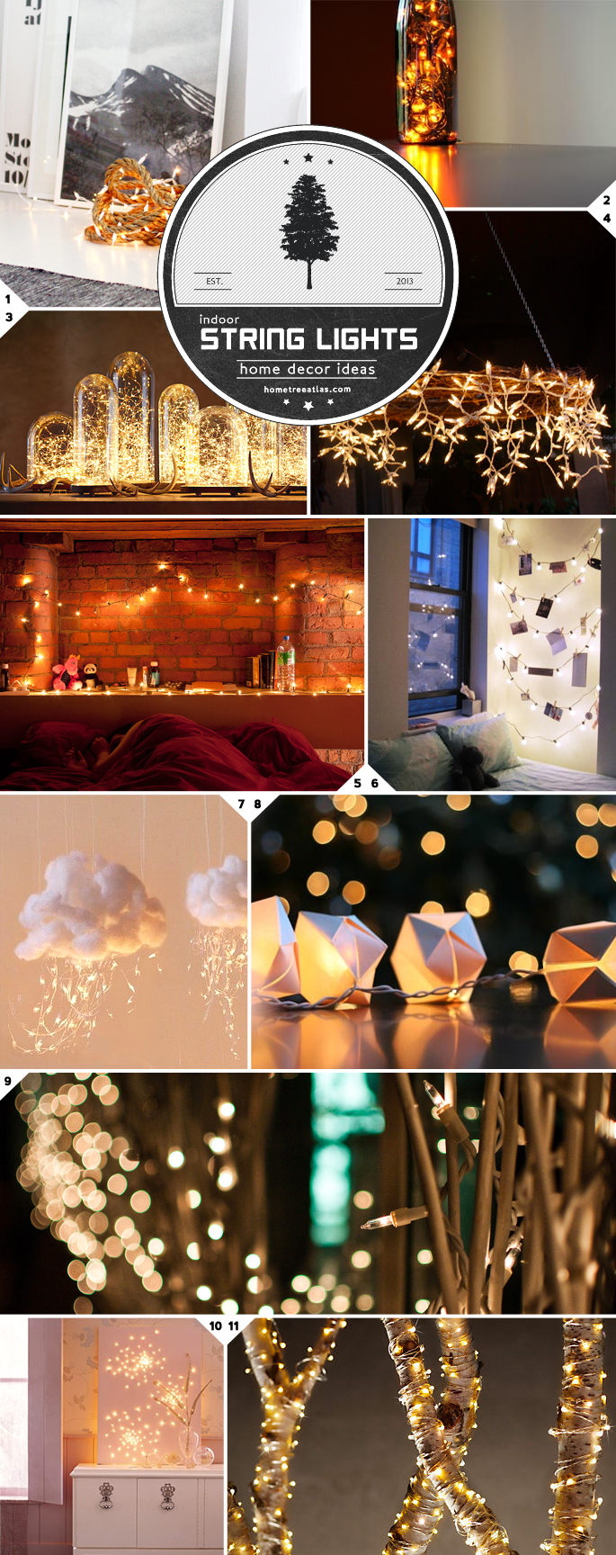 string lighting indoor. Home Decor Ideas: Beautiful Ways To Use String Lights Indoors Lighting Indoor E