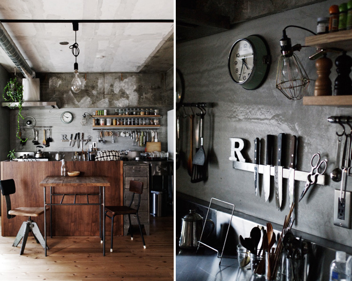 Industrial apartment in japan home tree atlas for Rustic industrial decor