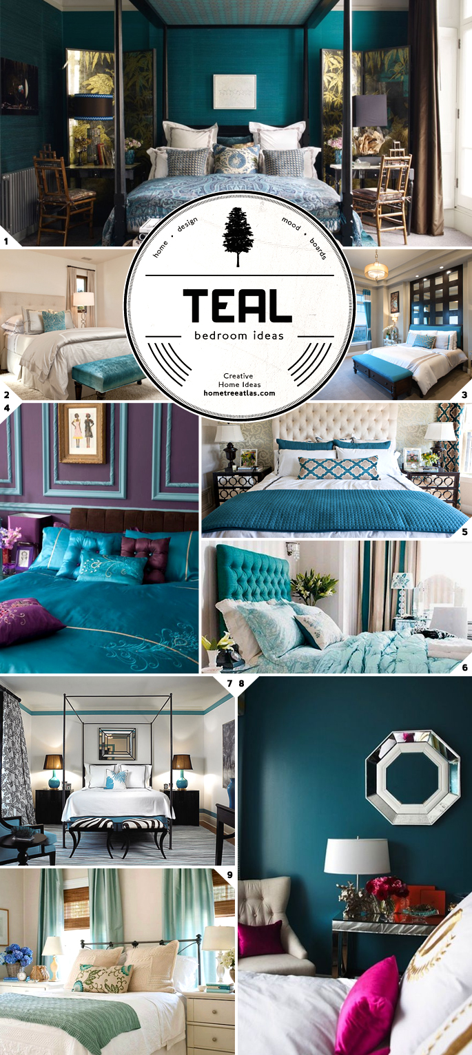 Color Choice: Teal Bedroom Ideas | Home Tree Atlas