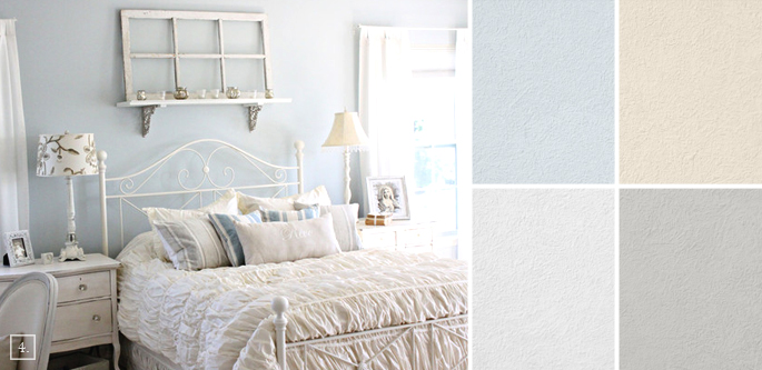 Shabby Chic Design Colors Similar Wall Paint