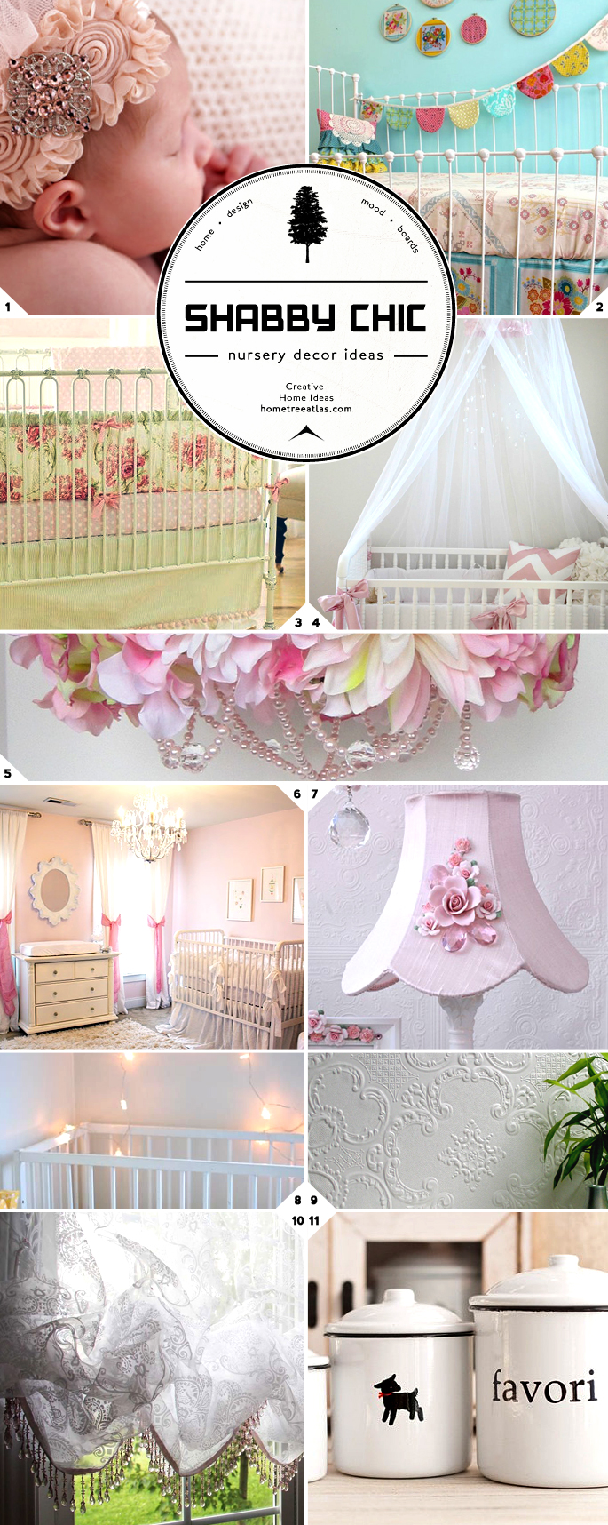 baby sleeps shabby chic nursery decor ideas home tree atlas. Black Bedroom Furniture Sets. Home Design Ideas