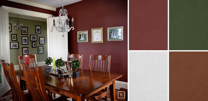 red dining room - Benjamin Moore Room Color Ideas