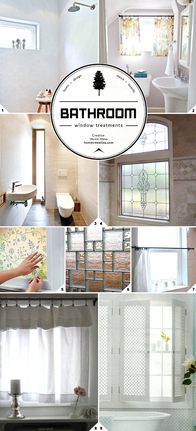 Bathroom Window Treatments Ideas. Light and Privacy  Ideas for Bathroom Window Treatments   Home
