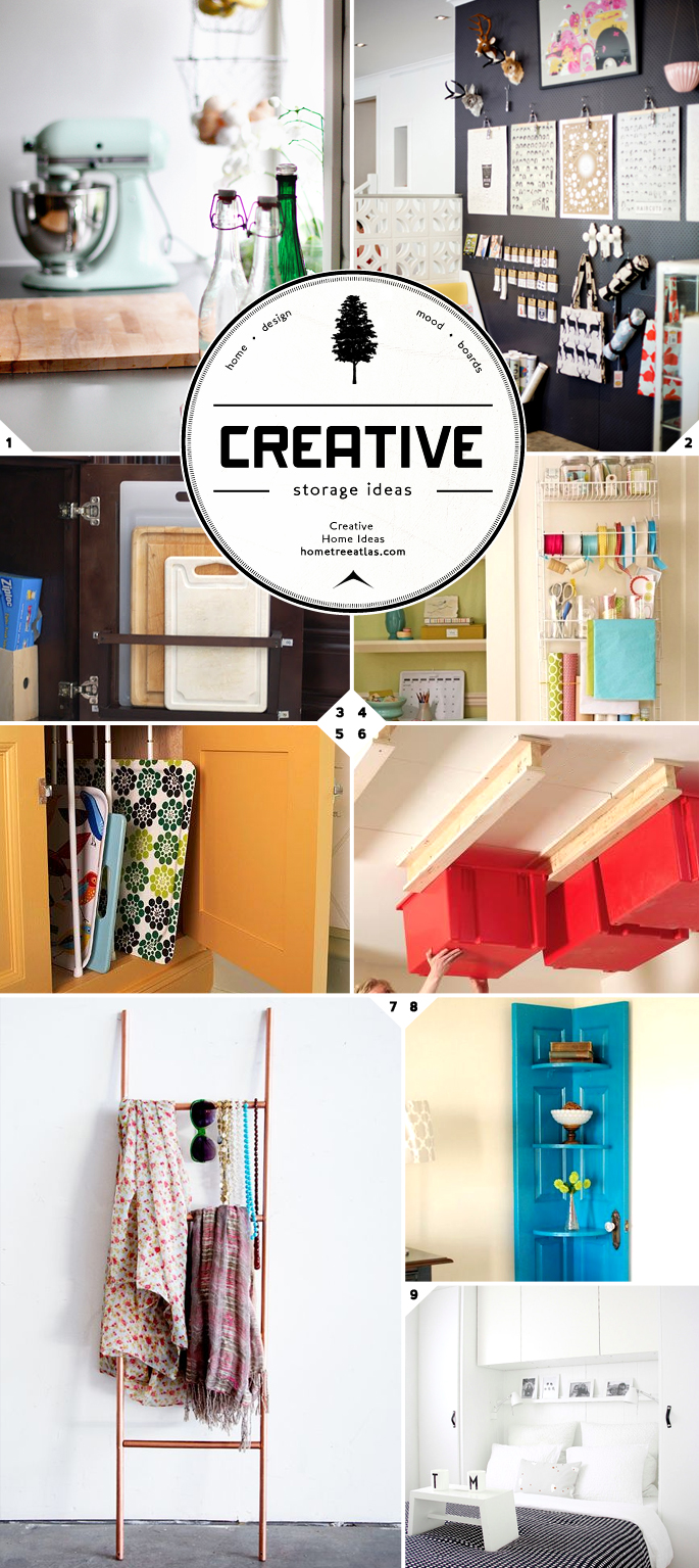 Budget Friendly, Clever, Creative Storage Ideas