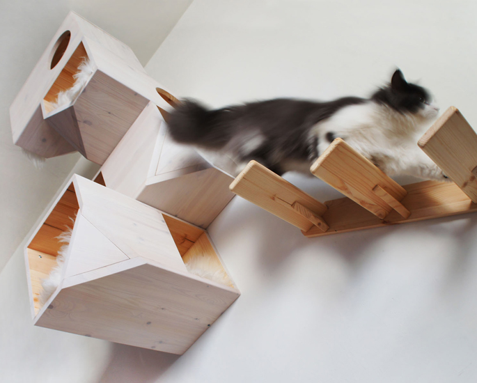 Cat Tower Wall