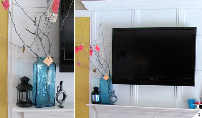 Creative ideas how to hide wires and cords home tree atlas for Ideas to cover tv wires