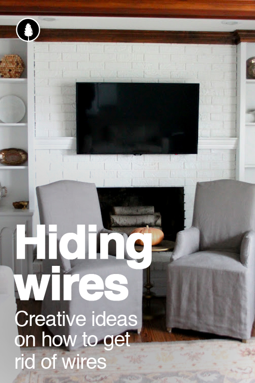 Hide cables, cords and wires to make a space look better