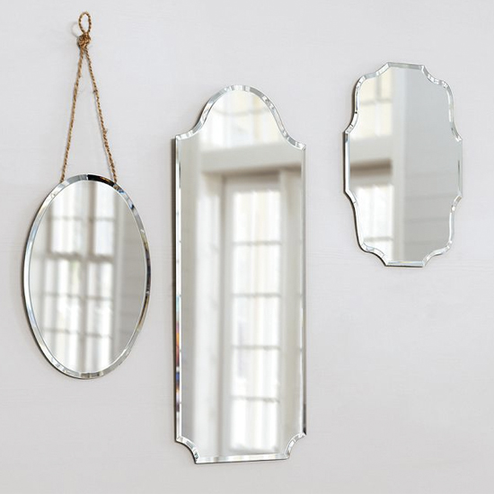 Frameless Vintage Mirror