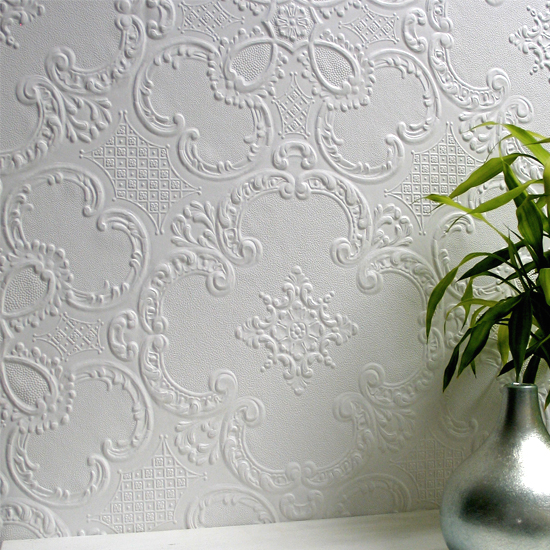 Embossed Vintage Anaglypta Wallpaper