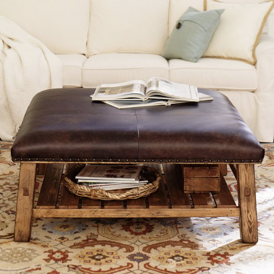 Leather Vintage Coffee Table