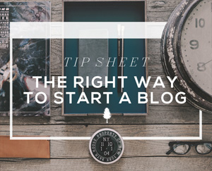 Blogging for Beginners Tip Sheet