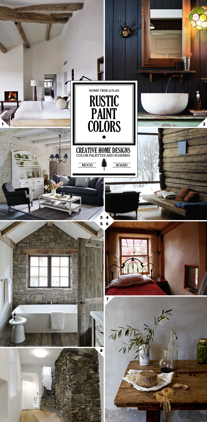 Rustic Paint Colors Palette