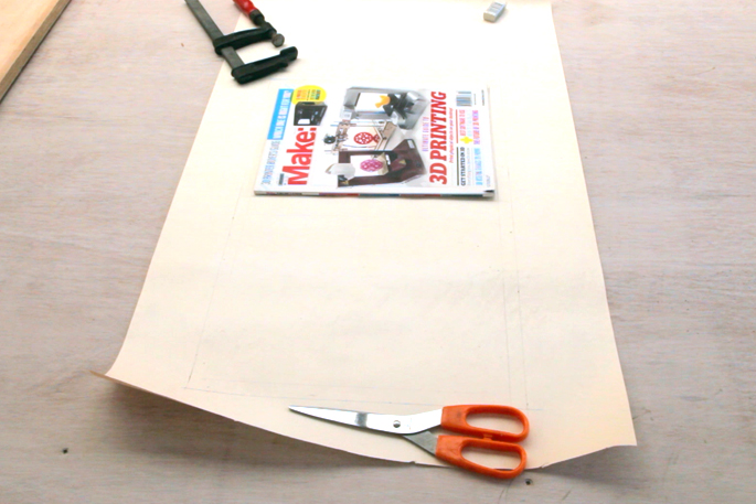 DIY Plywood Magazine Stand - Step #1 Making the template