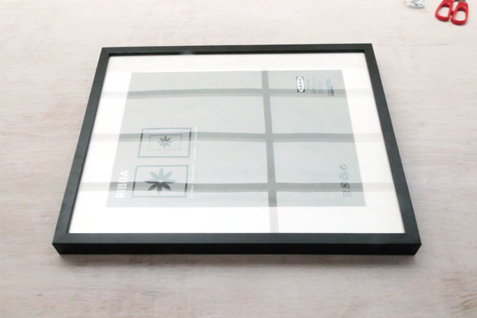 Travel Photos Display Frame DIY - Step #1 The IKEA RIBBA Frame